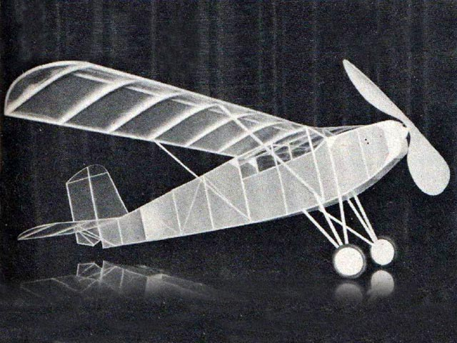 Curtiss Robin (oz11824) by Walter Taylor from Model Airplane News 1961