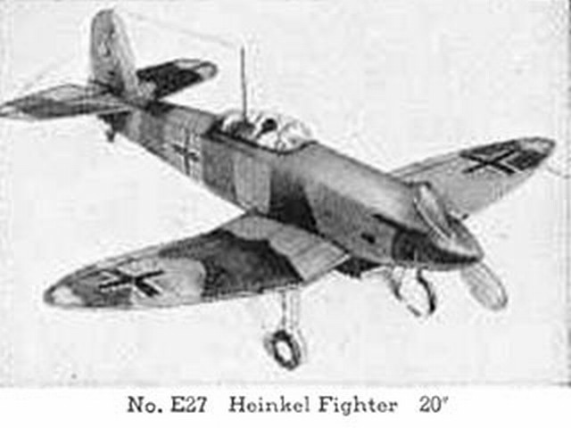 Heinkel He 112 Fighter (oz119) from Comet 1941