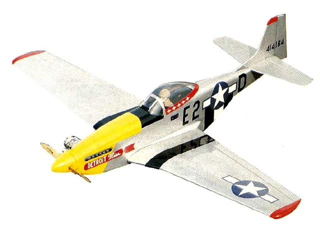 P-51D Mustang (oz11929) by Tom Stryker from Model Airplane News 1992