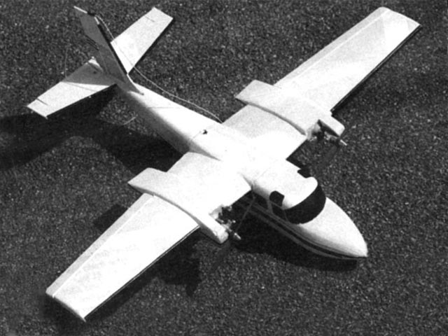 Rockwell Shrike Commander (oz11939) by Peter Miller from Radio Modeller 1995