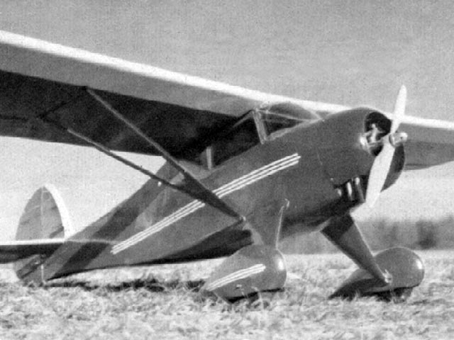 Monocoupe 90 (oz12014) by Hurst Bowers from RC Sportsman 1976