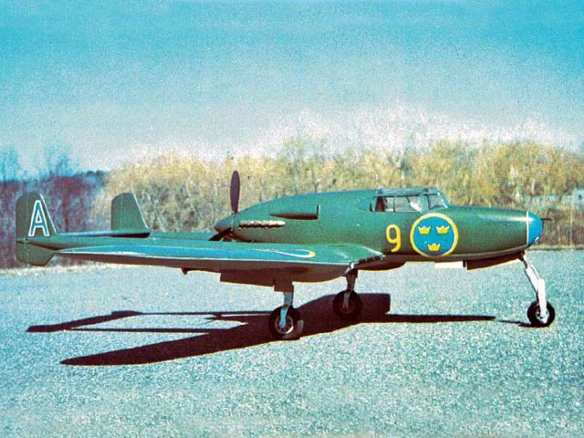 Saab J21 (oz12018) by Fred Angel from American Aircraft Modeler 1974