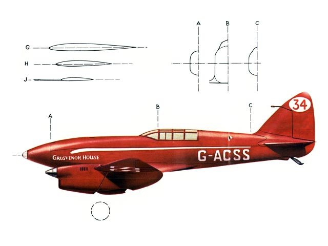 DH 88 Comet (oz12034) by Skip Williams from American Aircraft Modeler 1970