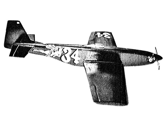 P-51 Mustang (oz12095) by Rick Kent from RC Sportsman 1977