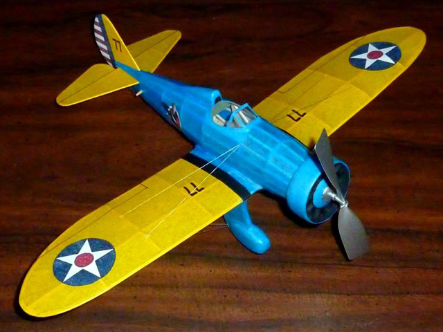 Boeing P-26A - completed model photo