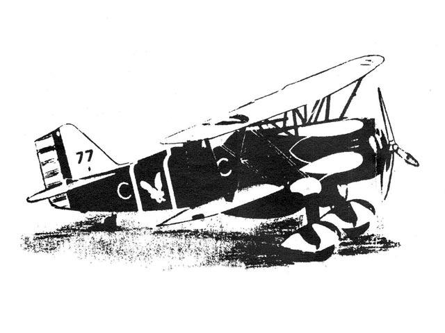 Curtiss P-6E Hawk (oz12107) from Tomasco 1934