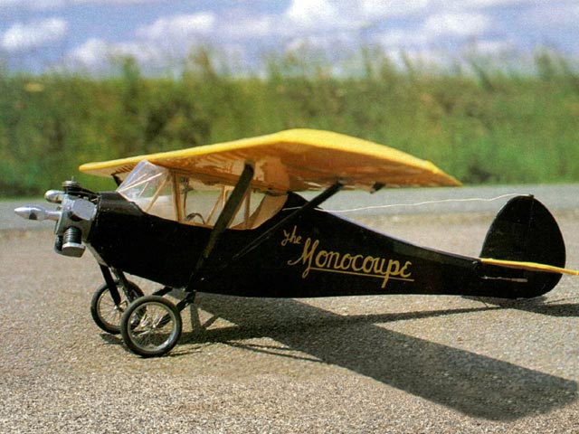 Velie Monocoupe (oz12114) by Peter Miller from Radio Modeller 1995
