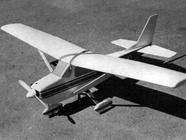 Cessna 150 (oz12130) by Fred Reese from Model Builder 1974