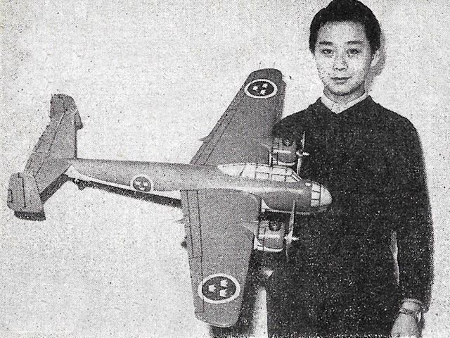 Saab 18A (oz1225) by Hoh Fang-Chiun from Model Aircraft 1959