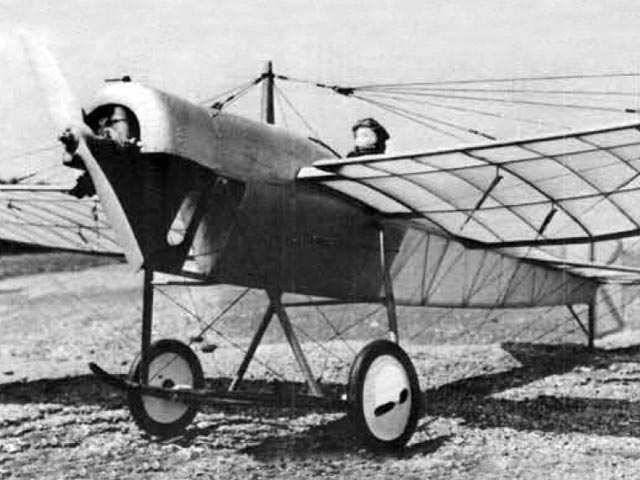 1912 Blackburn Monoplane (oz12266) by Sid Miller from Model Builder 1982