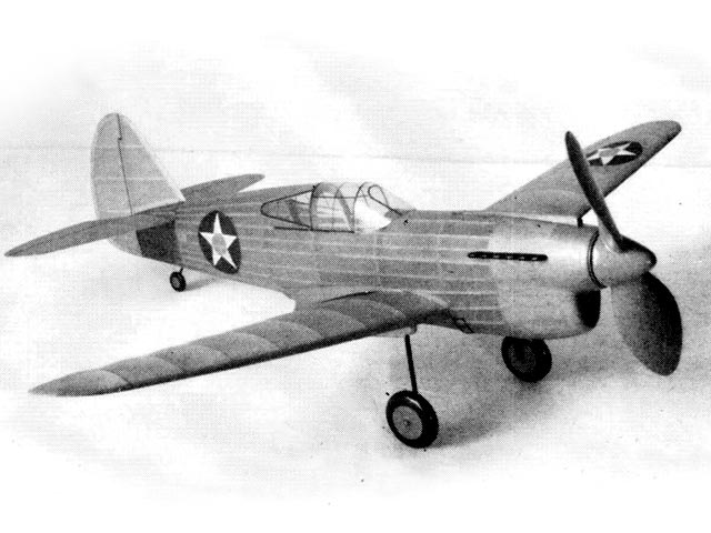 Curtiss P-40D (oz1232) by Earl Stahl from Model Airplane News 1942