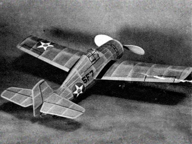 Grumman Wildcat F4F3 (oz1233) by Earl Stahl from Air Trails 1942