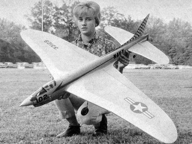 Crusader Stunter (oz12448) by Harold Price from American Modeler 1964