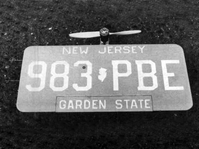 Flying License Plate - 12599