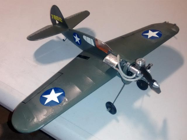 Curtiss P-40 Warhawk (oz12606) by Walt Musciano from Scientific 1960