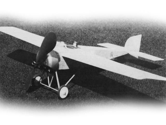 Morane-Saulnier Racer (oz12627) by Walt Mooney from Model Builder 1977