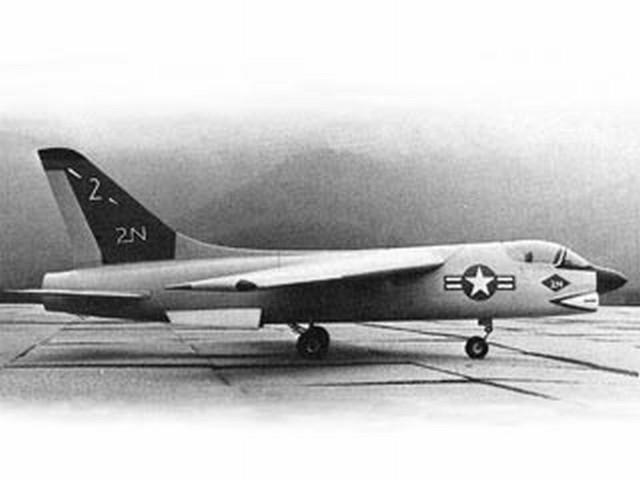 F-8E Crusader (oz1276) by Franz Meier from Flying Models 1970