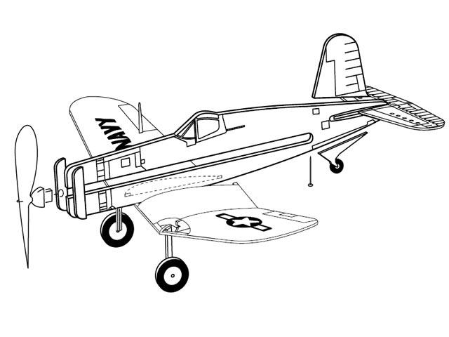F4U Corsair (oz12840) from Guillows 1957