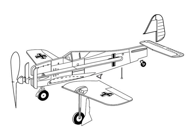 Focke-Wulf Fw190 (oz12846) from Guillows 1957