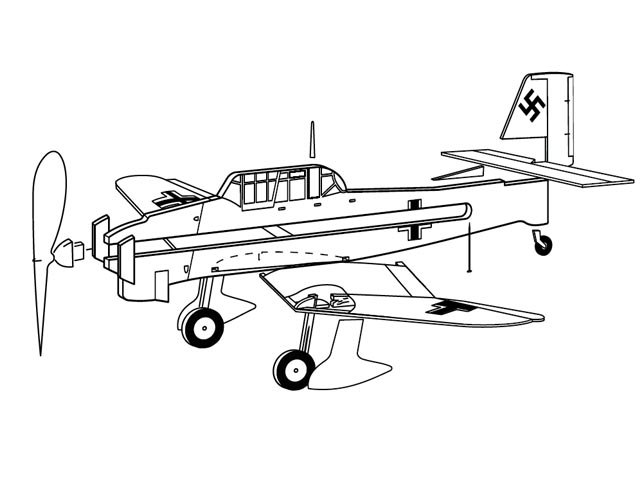 Ju-87 Stuka (oz12851) from Guillows 1957