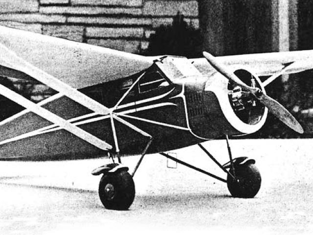 Stinson Junior S (oz1286) by Chester Lanzo from Model Airplane News 1960