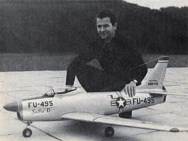 F-86D Sabre (oz1288) by Franz Meier from Flying Models 1969