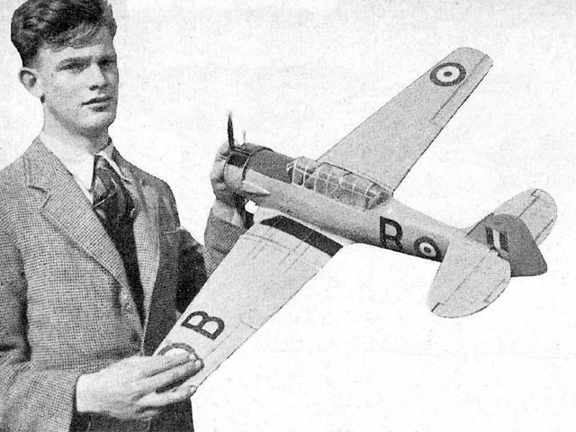 Harvard IIB (oz13017) by T Wordell from Model Aircraft 1950