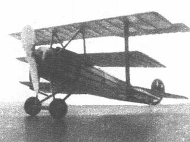 Fokker Dr1 (oz1313) by Joseph Wherry from Model Airplane News 1946