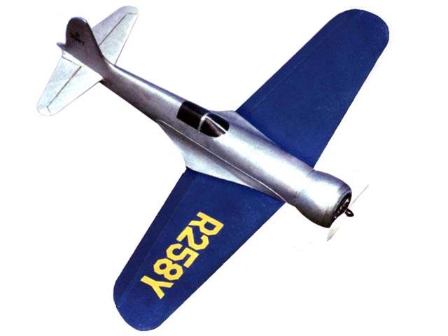 Hughes 1B Racer (oz13316) by Giuseppe Ghisleri from Modellismo 2001