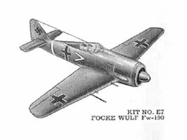 Focke-Wulf FW-190 (oz134) by Hollis Freeman from Comet 1943