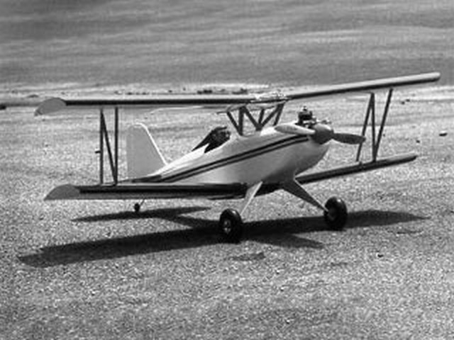 All-Star Biplane - completed model photo