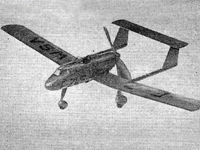 Potez 75 (oz1389) by Vic Dubery from Aeromodeller 1955