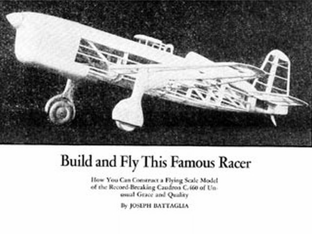 Caudron C.460 (oz1414) by Joseph Battaglia from Model Airplane News 1935