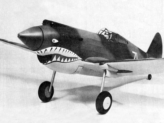 Curtiss P-40C (oz1415) by Doug McHard from Flying Scale Models of WWII 1974