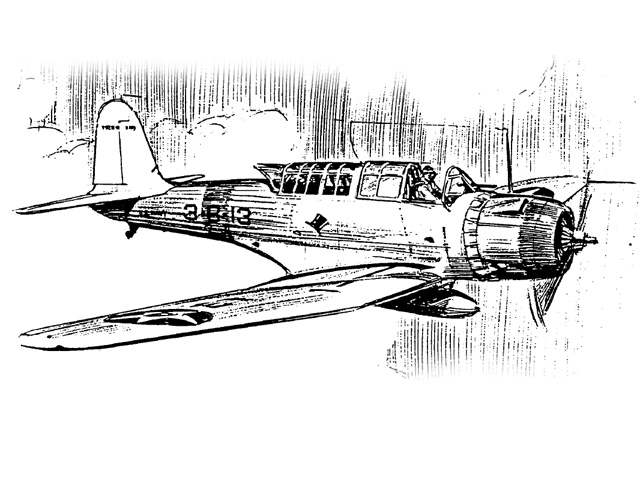 Chance-Vought SB2U-1 (oz1432) by Pres Bruning from FAC 1979
