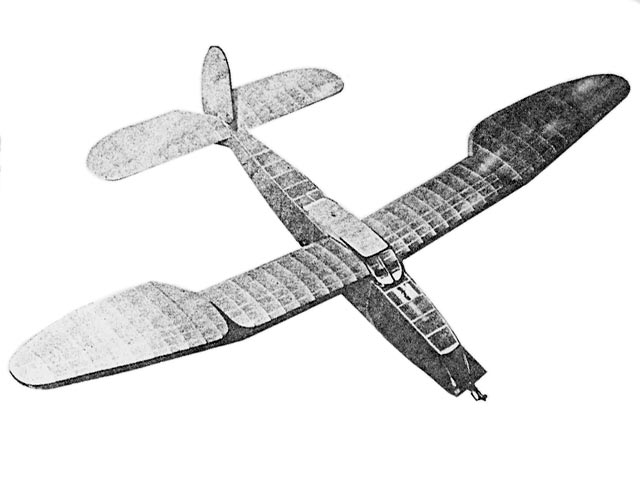 Lanzo Record Holder (oz1460) by Chester Lanzo from Model Airplane News 1942
