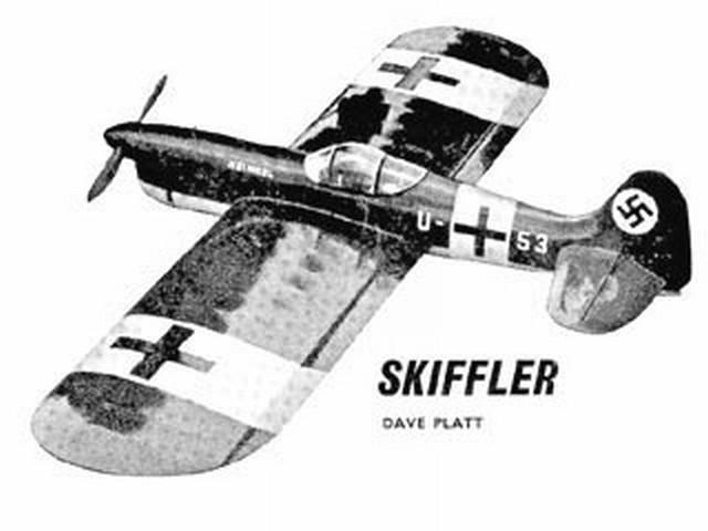 Skiffler (oz1464) by Dave Platt from Aeromodeller 1957