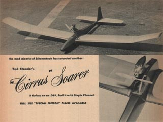 Cirrus Soarer (oz1475) by Ted Strader from Flying Models 1968