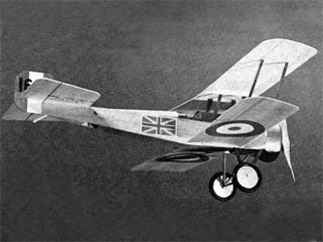 Bristol Scout (oz1494) by John Blankenship from Flying Models 1971
