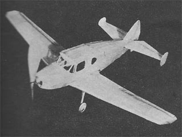 Bellanca Crusair (oz1498) by Herbert K Weiss from Model Airplane News 1947