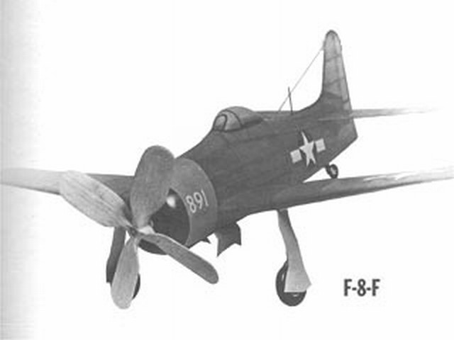 Grumman F8F-1 Bearcat (oz1500) by Joseph H Wherry from Model Airplane News 1946