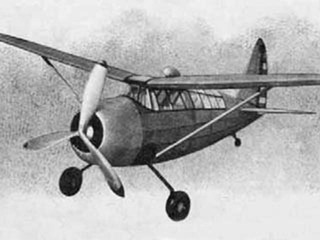 Curtiss O-52 (oz1504) by Ronnie Albert from Air Trails 1941