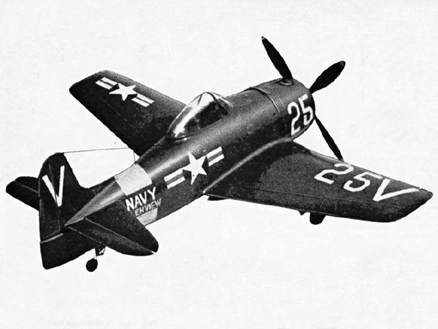 Grumman Bearcat (oz1578) by PMH Lewis from Model Aircraft 1955