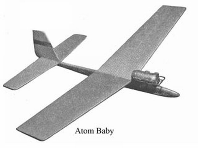 Atom Baby (oz1600) by Bill Dean from Aeromodeller 1953