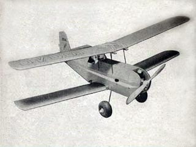 Lil Beau Bipe (oz1601) by Bill Northrop from American Modeler 1960