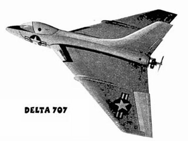 Delta 707 (oz1640) by FW Biesterfeld from Aeromodeller  1957
