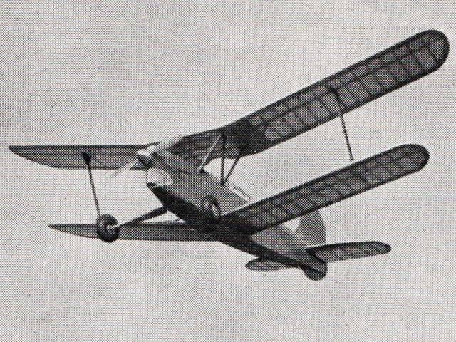 Brooks Biplane (oz1647) by Basil Brooks from Aeromodeller 1952