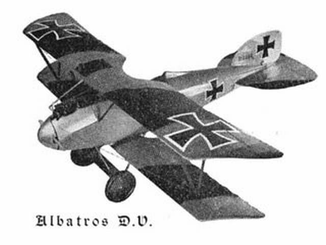 Albatros DV (oz1662) by Doug McHard from Aeromodeller 1957