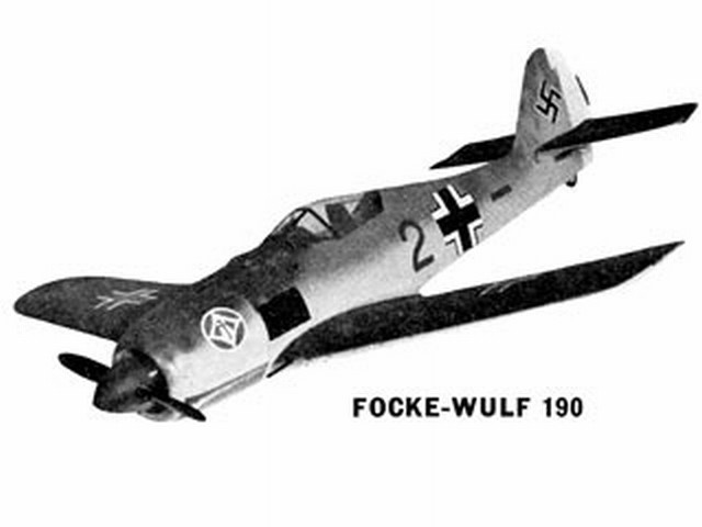 Focke-Wulf 190 - completed model photo