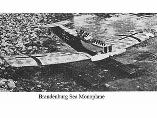Brandenburg Sea Monoplane - completed model photo